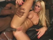 Jessica gets a cock in her butt and cum on her face